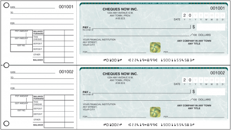 manual two per page cheques