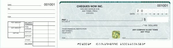 order 1 per page manual cheques